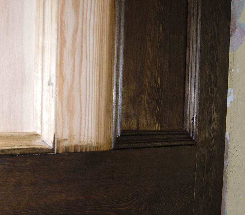 Dark Oak Wood Dye on yellow softwood