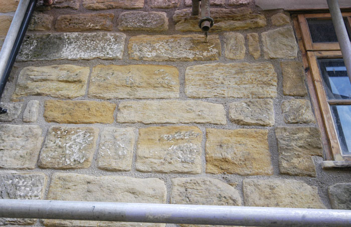 Stonework Granite Block : Re pointing stonework fiddly bits